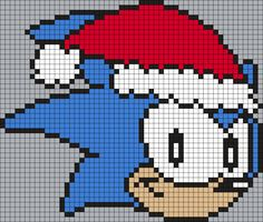 Christmas Sonic The Hedgehog Perler by Maninthebook on Kandi Patterns