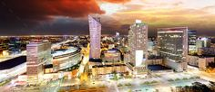 Buy Sunset panorama of Warsaw, capital of Poland, Europe by on PhotoDune. Sunset panorama of Warsaw, capital of Poland, Europe Polish Government, Warsaw, Poland, Times Square, Presidents, Royalty Free Stock Photos, Public, At Least, Europe