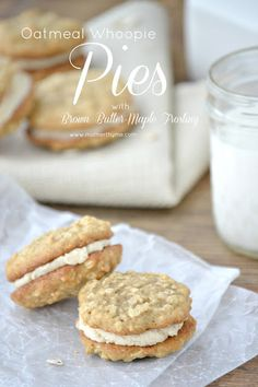 Oatmeal Whoopie Pies with Brown Butter-Maple Frosting.  Oatmeal. Maple syrup. Way, way too yummy to wrap my mind around!!