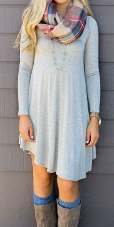 Light Grey Plain Irregular Heart-Shaped Neckline Mini Dress