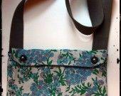 borsetta in tessuto vintage celeste rosa daisy : Borse a tracolla di glamstraat