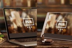 Mock-Up Laptop & Tablet (Pub style) - Templates - 1