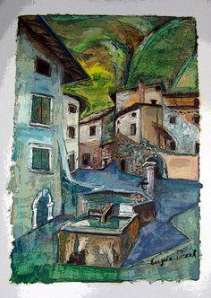 fontana ad avio Painting, Art, Art Background, Painting Art, Kunst, Paintings, Performing Arts, Painted Canvas, Drawings