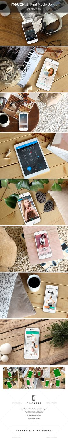 iTouch 5 | 08 Photorealistic MockUp #design Download: http://graphicriver.net/item/itouch-5-08-photorealistic-mockup/11967695?ref=ksioks