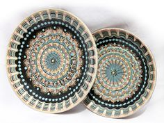 Serving plates by Troyan Pottery