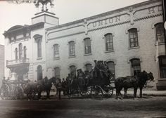 Fire department photo from about 1890. Fire department was in back of city hall at this time.