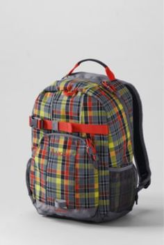 Boys' Plaid ClassMate® Small Backpack from Lands' End