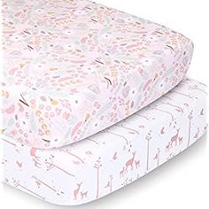 Perfect for your Baby and Nursery The Peanutshell Crib Sheet Set for Baby Girls | Pink Floral and Woodland Whimsy | 2 Pack Set,The Peanutshell Crib Sheet Set for Baby Girls | Pink Floral and Woodland Whimsy | 2 Pack Set, FUN & COLORFUL PRINTS – Transport your baby girl into a fanciful forest scene with this Pink Floral and Woodland themed 2pk crib sheet set SOFT & COMFY – The fabrics in our fit...
