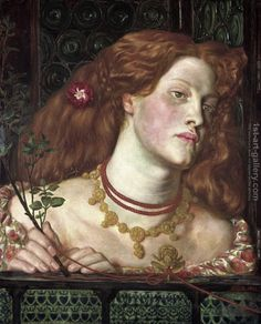 "What happened to the face of many Dante Gabriel Rossetti's paintings, Fanny Cornforth, during the last years of her life? (Image: ""Fair Rosamund, modelled by Fanny Cornforth"" by Dante Gabriel Rossetti. Public Domain via Wikimedia Commons. Dante Gabriel Rossetti, John Everett Millais, William Morris, Bill Viola, Pre Raphaelite Paintings, Art Nouveau, Romeo Y Julieta, Pre Raphaelite Brotherhood, Edward Burne Jones"