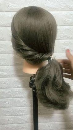 Front Hair Styles, Medium Hair Styles, Bun Hairstyles For Long Hair, Braided Hairstyles, Hair Style Vedio, Hair Tutorials For Medium Hair, Hair Upstyles, Grunge Hair, Hair Videos