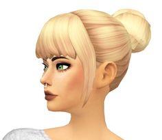 Buns-n-Bangs Hair by sarella-sims at SimsWorkshop • Sims 4 Updates