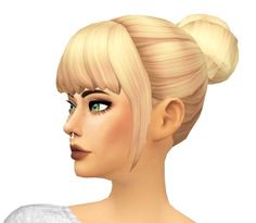 Buns-n-Bangs Hair by sarella-sims at SimsWorkshop • Sims 4 Updates