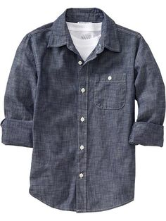 Old Navy | Boys Chambray Shirts