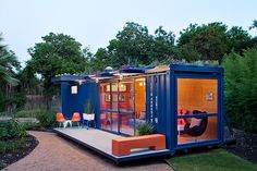 Flowers Top Awesome Shipping Container Guest House in Texas | Inhabitat - Sustainable Design Innovation, Eco Architecture, Green Building