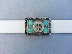 A beautiful Peace sign belt buckle Bo Ho belt buckle. designed by Eyes of Anastasia