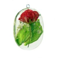 Rose jewelry- rose pendant, flower pendant