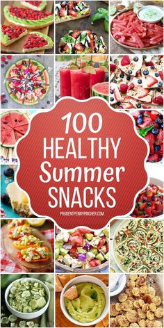100 Healthy Summer Snacks From frozen yogurt bark to fruit kabobs and avocado hummus, there are plenty of refreshing healthy summer snacks to choose from. Snacks Für Party, Lunch Snacks, Yummy Snacks, Summer Party Appetizers, Snack Box, Lunch Box, Healthy Summer Snacks, Healthy Drinks, Healthy Eating