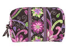 Vera Bradley Large Cosmetic Bag In Purple Punch