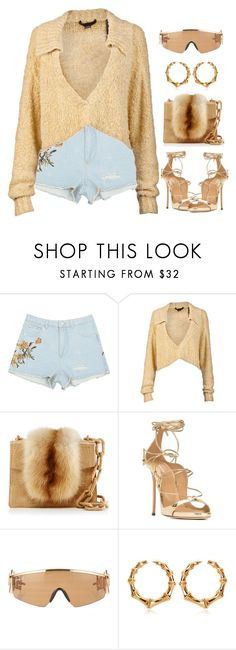 """Golden State (of mind)"" by oh-aurora ❤ liked on Polyvore featuring Alexander Wang, Nancy Gonzalez, Dsquared2, Jeremy Scott and Balmain"