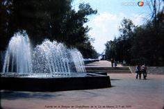 Fuente en el Bosque de Chapultepec de la Cd de Mexico D F en 1975