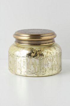 Capri Blue Giant Mercury Jar - Anthropologie.com. Volcano is my absolute favorite scent