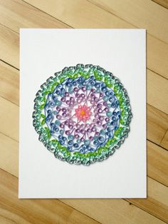 Check out this item in my Etsy shop https://www.etsy.com/ca/listing/268163867/mandala-wall-art-paper-quilled-mandala