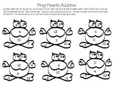 Frog Hearts Addition and Subtraction