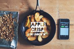 Healthy Apple Crisp  (under 10 minutes)