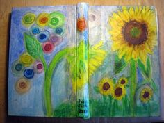 Day 30: The Cover of my Art Journal final day of #30DOC @createstuff Used chalk pastel, water soluble oil crayons, markers and Mod Podge.