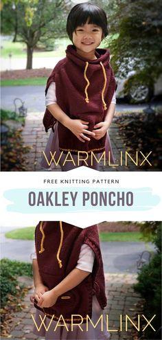 Girls Poncho, Baby Poncho, Baby Cardigan, Knitting Patterns Free, Free Knitting, Baby Knitting, Knitted Baby, Knitted Poncho, Super Bulky Yarn