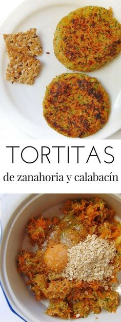 Tortitas de zanahoria y calabacín - Tasty details - Yemek Tarifleri - Resimli ve Videolu Yemek Tarifleri Veggie Recipes, Baby Food Recipes, Vegetarian Recipes, Cooking Recipes, Healthy Recipes, Healthy Cooking, Healthy Eating, Comida Diy, Perfect Food