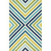 Found it at AllModern - Palm Springs Blue & Green Indoor/Outdoor Area Rug