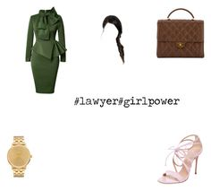 """A Look For A Lawyer"" by ashley-809 ❤ liked on Polyvore featuring Casadei, Chanel and Nixon"