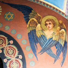 Seraph mural icon by Wilgelm Kotarbinsk at St Volodymyr's Cathedral in Kiev.