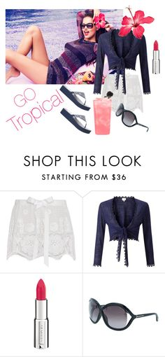 """""""Go Tropical"""" by jbeb ❤ liked on Polyvore featuring Miguelina, EAST, Givenchy, Tom Ford and Skechers"""