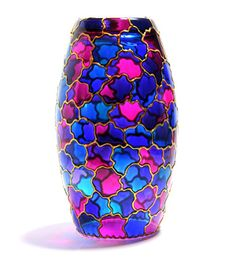 Olia Bseiso - Stained Glass, Wood Burning, and Embroidery Painted Glass Bottles, Glass Bottle Crafts, Wine Bottle Art, Painted Vases, Painted Wine Glasses, Stained Glass Paint, Stained Glass Projects, Mosaic Glass, Glass Art