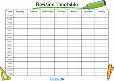 Blank Weekly School Timetable Template  Timetable Templates For