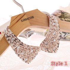 8 estilos de moda de las mujeres con lentejuelas con cuentas de tela de punto de la cinta collar falso choker collares accesorios de vestir u seleccione