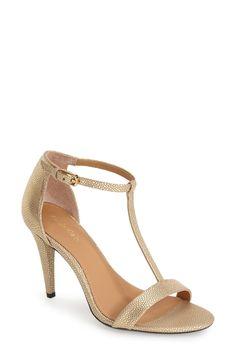 1ffaceee581 Calvin Klein  Nasi  Leather T-Strap Sandal (Women) T Strap Sandals