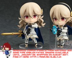 Nendoroid Corrin (Female) from Nintendo 3DS Fire Emblem Fates   #rinkya #japan #fromjapan #nendoroid #nintendo