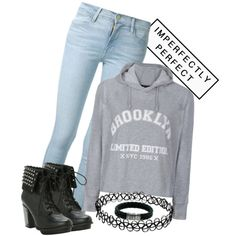 Boots and Hoodies by nika-love on Polyvore featuring polyvore, fashion, style, Ally Fashion, Frame Denim and John Hardy