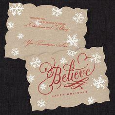 Believe! Holiday Card weddingneeds.carlsoncraft.com