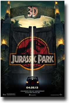 Jurassic Park 3D..  Cant wait for this to come out! April 5th!!