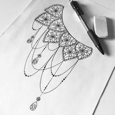 lace tattoo design                                                                                                                                                                                 More