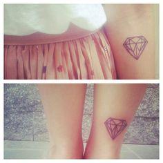 Diamond tattoo, ankle tatt for sure