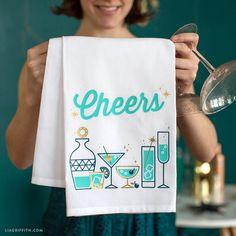 Cocktail Iron-On Design