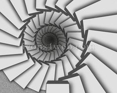 Spiral staircase illustration. Infinity staircase design – Icons for your website