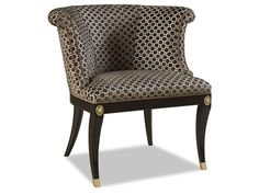 Shop for Chaddock Ladd Pull Up Chair, Z-1021-26, and other Living Room Chairs at Chaddock in Morganton, NC. Tight seat; Nailhead trim standard; Available in all finishes and choice of fabric, vinyl or leather applications. Also available in choice of Brass or Nickel medallion and feet.