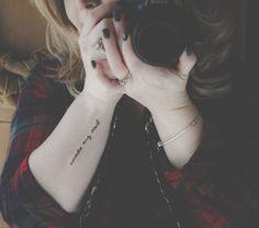 """forearm tattoo, """"awake my soul"""" quote tattoo, literary tattoo, script tattoo"""