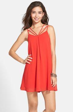 6062f848846 dee elle Strappy Swing Dress (Juniors)